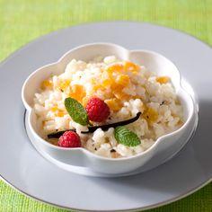 Découvrez la recette Riz au lait et aux abricots sur cuisineactuelle.fr.