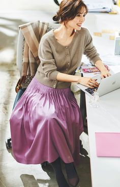 Girl Fashion Style, Fashion Face, Modest Fashion, Skirt Fashion, Fashion Outfits, Womens Fashion, Fashion Trends, Japanese Fashion, Korean Fashion