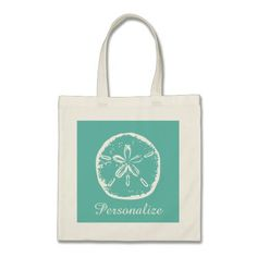 Turquoise sand dollar beach wedding tote bag
