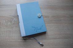 Babytagebücher - Individuelles Babytagebuch - A5 - Hellblau - ein Designerstück von mpodleisek bei DaWanda