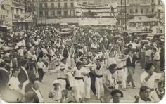 La Peña la Veleta 1934!!  San Fermines in Pamplona, Navarra!! En la Calle Jarauta in Pamplona!!