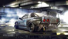 Need for speed tribute - Nissan Skyline R32 by yasiddesign.deviantart.com on @DeviantArt