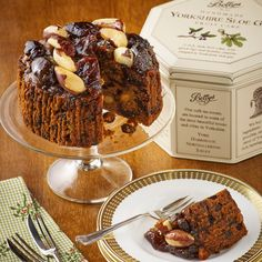 Yorkshire Sloe Gin Fruit Cake in a Tin   A rich, dark fruit cake infused with Yorkshire Sloe Gin   £21.50