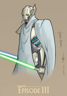 I like this simple General Grevious Star Wars Art