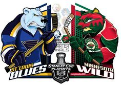 #EPoole88 (Eric Poole) is back with his renditions of the first-round Stanley Cup playoff matchups. This is for the Western Conference series between the St. Louis Blues and the Minnesota Wild.