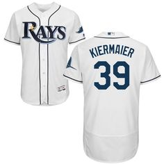 94e816ce9 Rays #39 Kevin Kiermaier White Flexbase Authentic Collection Stitched MLB  Jersey Mlb Teams, Dodgers