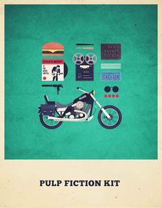Movies Hipster Kits - Alizée Lafon http://www.ufunk.net/illustration/movies-hipster-kits/ #graphic design # retro design