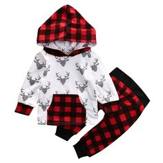 7.66$ (More info here: http://www.daitingtoday.com/2pcs-toddler-kids-baby-boy-girl-clothes-fashion-suit-newborn-infant-bebes-deer-long-sleeve-hooded-top-t-shirt-plaid-pant-outfit ) 2PCS Toddler Kids Baby Boy Girl Clothes Fashion Suit Newborn Infant Bebes Deer Long Sleeve Hooded Top T-shirt Plaid Pant Outfit for just 7.66$