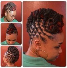 Natural hair, locs style