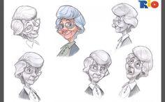 Sketch grandma by Angel J, via Behance