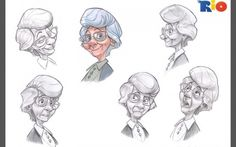 Sketch grandma by Angel J, via Behance
