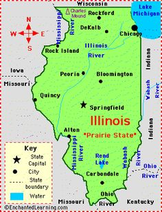 Free Illinois State Printable Pack For Learning About States For - Us state facts map and state symbols