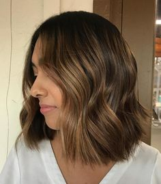 20 Honey Balayage Pictures That Really Inspire You to Try Highlights; Balayaged Brown'n'Honey Bob; Brown Hair Cuts, Golden Brown Hair, Brown Ombre Hair, Brown Hair Balayage, Brown Blonde Hair, Brown Hair With Highlights, Light Brown Hair, Brown Hair Colors, Balayage Highlights