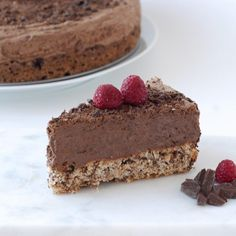 Enjoy as is or freeze and serve as an ice cream cake - this chocolate mousse cake is delicious either way! Chocolate Mousse Cake, Melting Chocolate, Cake Tins, Unsweetened Cocoa, Food Cakes, Something Sweet, Lchf, Keto, Cheesecake Recipes