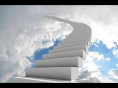 Our flight in life prepares us for the last journey, do unto others as you would have them do unto you, and that stairway to heaven will be an open view. Stairway To Heaven, Heaven Art, How To Apologize, Stairways, Catholic, Spirituality, Journey, Clouds, Illustrations