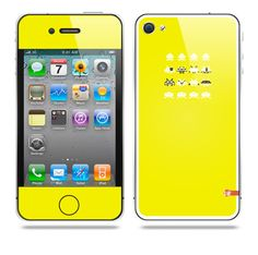 Invader from space Yellow iPhone skin by TAJTr