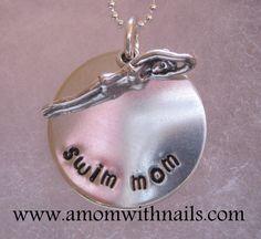 swim mom Swim Mom, Keep Swimming, Sports Mom, Personalized Jewelry, Boys, Girls, My Girl, Jewelry Collection, Quotes