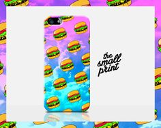 BURGER iPhone Case, cheeseburger iPhone 5s case, hamburger iPhone 5 case, pop culture illustration, meme iphone case, awesome cell case, by TheSmallPrintCases on Etsy