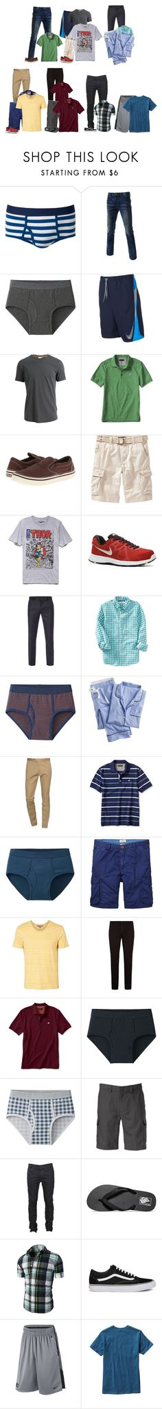 """""""Peter Weekly Outfits"""" by crazypolyfams ❤ liked on Polyvore featuring Uniqlo, TheLees, NIKE, J.Lindeberg, Banana Republic, Crocs, Old Navy, 21 Men, Paul Smith and J.Crew"""