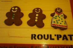 Decorate gingerbread people on a Roul'Pat for a mess-free clean up.