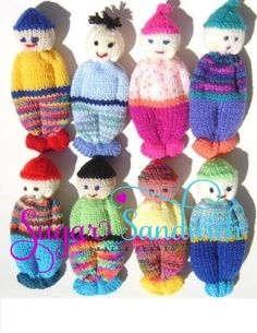 PDF Version Comfort Doll Knitting Pattern Easy to Make 5 Inch knitted Pocket Doll Baby Knitting Patterns Toys I tried it. I'd love to make some of these for Operation Christmas Child shoeboxes! Teddy Bear Knitting Pattern, Knitted Teddy Bear, Baby Knitting Patterns, Loom Knitting, Knitting Ideas, Teddy Bears, Cute Crochet, Crochet Toys, Knitting For Charity