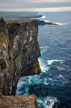 Cliffs at Dún Aonghasa, County Galway, Ireland - There are no words to describe what it's like to stand on this cliff. Just no words.