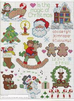 Piccoli e facili schemi a punto croce dedicati al Natale