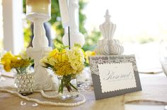 Rustic Chic Yellow & Gray Wedding