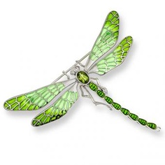 Nicole Barr Silver, Diamond, and Peridot Enamel Dragonfly Brooch Dragonfly Photos, Dragonfly Wall Art, Dragonfly Jewelry, Dragonfly Tattoo, Insect Jewelry, Dragon Fly Craft, Gossamer Wings, Beautiful Bugs, Silver Diamonds