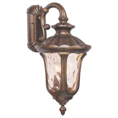 Livex Oxford 7657-50 Outdoor Hanging Wall Lantern - 22.5H in. Moroccan Gold - 7657-50