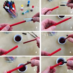 Tips on how to use edible ink food coloring markers to draw on foods.