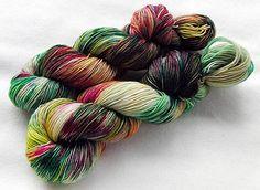 Handdyed SockYarn, 75 Wool, 25 Nylon 100g 3.5 oz. Nr. 185