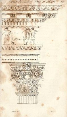 Arch of Titus, Detail Architecture Antique, Neoclassical Architecture, Roman Architecture, Architecture Drawings, Historical Architecture, Architecture Design, Art Roman, Architectural Elements, Architectural Sketches