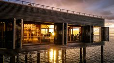 Badehaus  Sonnenuntergang, Sunset, Bodensee, Austria Spaces, Architecture, Bathing, Arquitetura, Architecture Design
