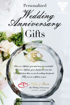 For a couple celebrating a wedding anniversary, a gift should be heartfelt and personal. Whether you are gifting friends, family, or members of your community, a wedding anniversary gift should reflect years of love and commitment. A crystal plaque like this Anniversary Gift for Couple offers the opportunity to convey a beautiful message with grace. Friends Family, Gifts For Friends, Anniversary Gifts For Couples, Once In A Lifetime, Crystal Wedding, Couple Gifts, Custom Engraving, Personalized Wedding, Opportunity
