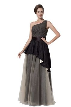 Fashion Bug One Shoulder Floor Length Prom Gowns And Evening Dresses For Women. www.fashionbug.us #curvy #plussize #FashionBug