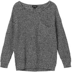 Monki Annie knitted top ($17) ❤ liked on Polyvore featuring tops, sweaters, shirts, jumpers, scoop neck shirt, scoop neck top, chunky sweater, monki et sleeve shirt