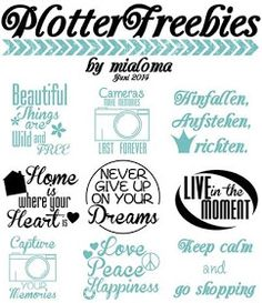 Lilli & Faxi Design: Plotterfreebies ♥♥♥ von Mialoma ♥♥♥ Part II