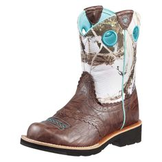 Ariat Fatbaby Cowgirl Western Boot - Youth Brown/Snowflake Would be so cute  for my mommas wedding