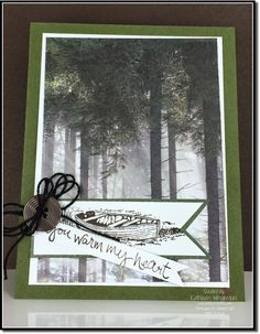 Masculine card made with the Moon Lake stamp set and the Adventure Bound Designer Series Paper from Stampin Up by Kathleen Wingerson    www.kathleenstamps.com   So quick and easy!!