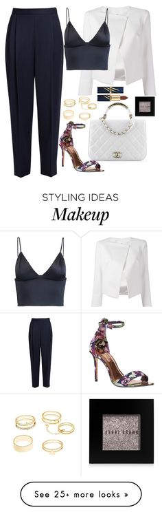 """""""Untitled #1713"""" by mihai-theodora on Polyvore featuring Chanel, The Row, Ted Baker, Plein Sud Jeanius, T By Alexander Wang, Charlotte Russe and Bobbi Brown Cosmetics"""