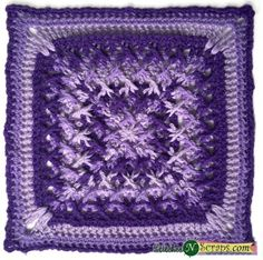 Criss Cross Applesauce by Stitches N Scraps! Free Crochet Granny Afghan Square Pattern