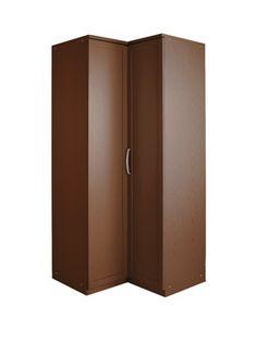 Details about khabat high gloss furniture 2 door corner for 1 door corner wardrobe