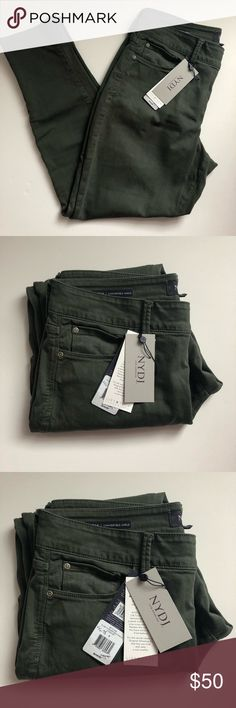 NYDJ Alina Skinny Ankle Pant Army Green Size 8 NYDJ Alina Skinny Ankle Pant Army Green Size 8 NWT NYDJ Pants Ankle & Cropped