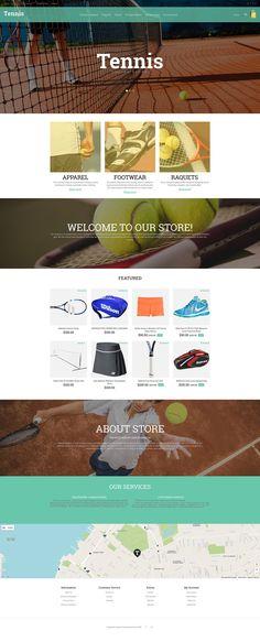 Tennis Responsive OpenCart Template #55799