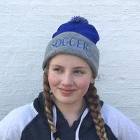 SOCCER Knit Beanie Hat