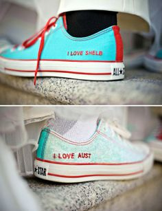 Custom Converse as wedding shoes, I could work with this