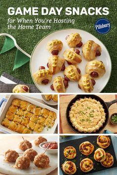 Whether or not the home team is winning, these snacks are sure to score some major points with all your sports fans. Game Day Snacks, Game Day Food, Chicken And Biscuits, Pillsbury Recipes, Football Food, Slow Cooker Chicken, Creative Food, Tailgating, Super Bowl