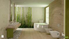 ŁAZIENKI, ŁAZIENKI... - Duża łazienka w domu jednorodzinnym z oknem, styl…