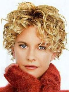 short curly hair- would love for my hair to  look like this. But it is too thin. :-(